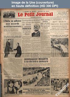 LE PETIT JOURNAL  numéro 27278 du 22 septembre 1937