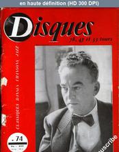 DISQUES numéro 74 du 01 octobre 1955