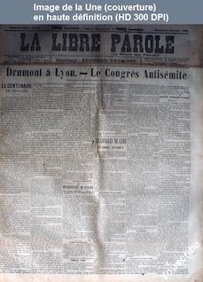 LA LIBRE PAROLE  numéro 1683 du 27 novembre 1896