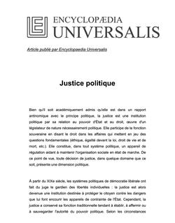 La justice politique