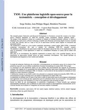 TXM : Une plateforme logicielle open-source pour la textométrie - conception et développement