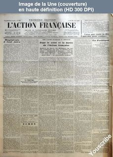 L' ACTION FRANCAISE  numéro 238 du 26 août 1935
