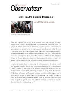 Mali: l'autre bataille française