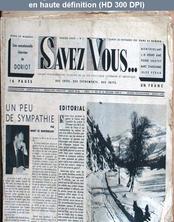 SAVEZ VOUS numéro 2 du 30 novembre 1935
