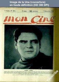MON CINE numéro 251 du 09 décembre 1926