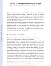 La traduction plastique des Fables de la Fontaine par Gustave Moreau