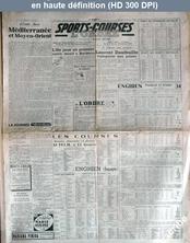 SPORTS COURSES L'ORDRE numéro 332 du 23 février 1946