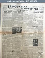 LA NOUVELLE REPUBLIQUE  numéro 548 du 05 juin 1946