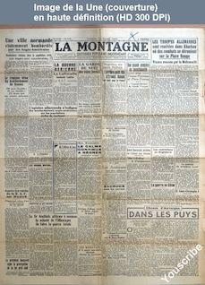 LA MONTAGNE  numéro 8412 du 13 mars 1943