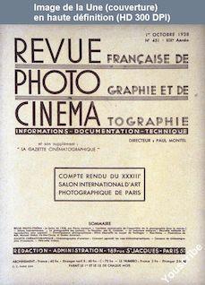 REVUE PHOTO CINEMA numéro 451 du 01 octobre 1938