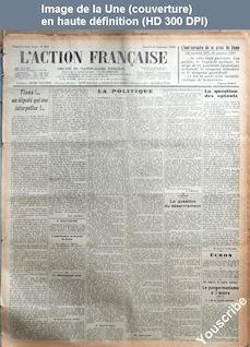 L' ACTION FRANCAISE  numéro 264 du 21 septembre 1929