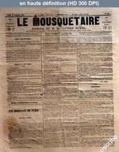 LE MOUSQUETAIRE  numéro 309 du 30 septembre 1854