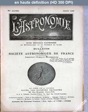 L' ASTRONOMIE  numéro 3 du 01 mars 1940