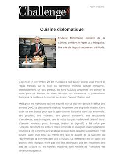 Cuisine diplomatique