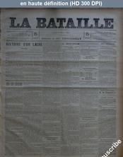 LA BATAILLE  numéro 778 du 02 mars 1891