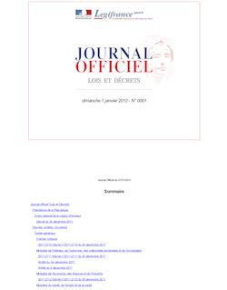 Journal officiel n°0001 du 1 janvier 2012