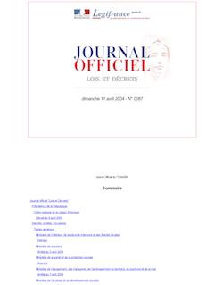 JORF n°87 du 11 avril 2004