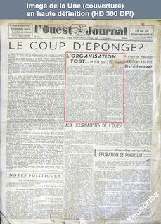 L' OUEST JOURNAL  numéro 3 du 16 novembre 1944