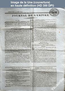 JOURNAL DE L'EMPIRE du 19 août 1810