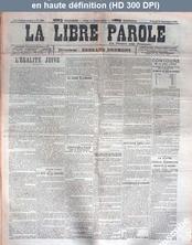 LA LIBRE PAROLE  numéro 4904 du 23 septembre 1905