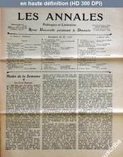 LES ANNALES POLITIQUES ET LITTERAIRES  numéro 1205 du 29 juillet 1906