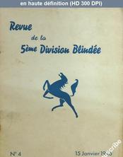 REVUE DE LA 5 EME DIVISION BLINDEE numéro 4 du 15 janvier 1946