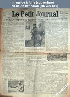 LE PETIT JOURNAL  numéro 19094 du 07 avril 1915