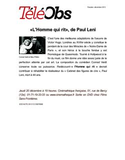 «L'Homme qui rit», de Paul Leni