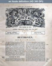 LE MAITRE DE MUSIQUE  numéro 1 du 01 janvier 1881