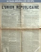 L' UNION REPUBLICAINE DE FONTAINEBLEAU  numéro 1944 du 01 mai 1896