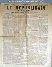 LE REPUBLICAIN DE SEINE ET MARNE  numéro 1008 du 15 septembre 1882