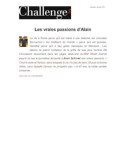 Les vraies passions d'Alain