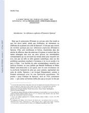 LA DOCTRINE DU PARALLÉLISME DE SPINOZA ET LE PROGRAMME ÉPISTÉMOLOGIQUE D'EINSTEIN