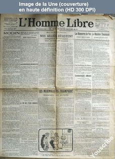 L' HOMME LIBRE  du 13 novembre 1917