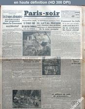 PARIS SOIR numéro 773 du 23 octobre 1942