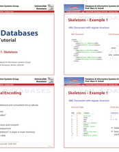 XML & Databases - Tutorial 11