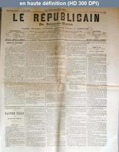 LE REPUBLICAIN DE SEINE ET MARNE  numéro 1241 du 02 avril 1884