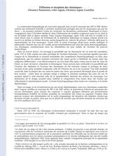 Diffusion et réception des chroniques : Chronica Naiarensis, Liber regum, Chronica regum Castellae