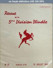 REVUE DE LA 5 EME DIVISION BLINDEE numéro 21 du 15 juillet 1947