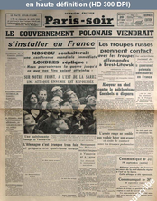 PARIS SOIR du 20 septembre 1939