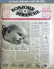 BONJOUR DIMANCHE numéro 1 du 13 octobre 1945