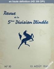 REVUE DE LA 5 EME DIVISION BLINDEE numéro 10 du 15 août 1946