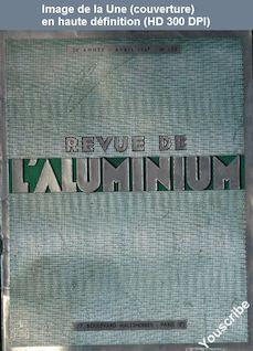 REVUE DE L'ALUMINIUM numéro 132 du 01 avril 1947