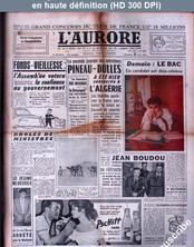 L' AURORE  numéro 3664 du 20 juin 1956