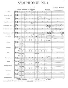 "Partition complète, Symphony No.1, Originally titled ""Titan"""