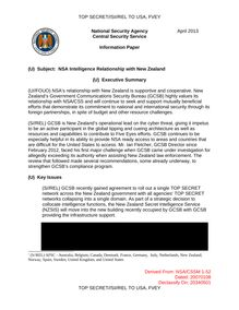 Les révélations de Snowden : NSA Intelligence Relationship with New Zealand