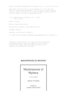 Masterpieces of Mystery, Vol. 1 (of 4) - Ghost Stories