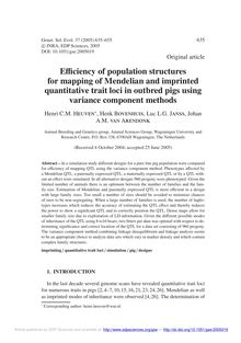 Efficiency of population structures for mapping of Mendelian and imprinted quantitative trait loci in outbred pigs using variance component methods