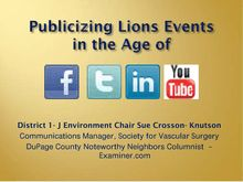 Facebook and Twitter for Lions Publicity