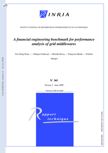 [inria-00387324, v2] A financial engineering benchmark for performance  analysis of grid middlewares